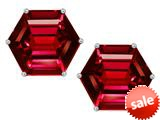 Original Star K™ Fancy Octagon Cut Earrings Studs with Created Ruby style: 309115