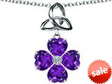 Celtic Love by Kelly™ Lucky Shamrock with Celtic Knot made with Heart 6mm Simulated Amethyst style: 309145