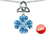 Celtic Love by Kelly™ Lucky Shamrock with Celtic Knot made with Heart 6mm Simulated Blue Topaz style: 309146