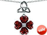 Celtic Love by Kelly™ Lucky Shamrock with Celtic Knot made with Heart 6mm Simulated Garnet style: 309147
