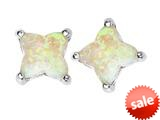 Original Star K™ Fancy Cut Star Shape Earrings Studs with Created Opal style: 309167