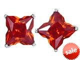 Original Star K™ Fancy Cut Star Shape Earrings Studs with Simulated Orange Mexican Fire Opal style: 309168