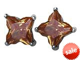 Original Star K™ Fancy Cut Star Shape Earrings Studs with Simulated Imperial Yellow Topaz style: 309172