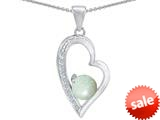 Original Star K™ Round Created Opal Heart Pendant style: 309175