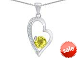 Original Star K™ Round Simulated Citrine Heart Pendant style: 309177