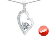 Original Star K™ Round Genuine White Topaz Heart Pendant style: 309180