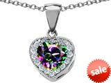 Original Star K™ 8mm Heart Shape Rainbow Mystic Topaz Love Pendant style: 309197