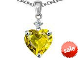 Original Star K™ Heart shape 8mm Simulated Citrine Pendant style: 309217