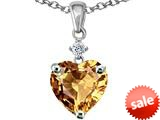Original Star K™ Heart shape 8mm Simulated Imperial Yellow Topaz Pendant style: 309218