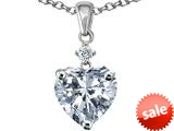 Original Star K™ Heart shape 8mm Genuine White Topaz Pendant style: 309219