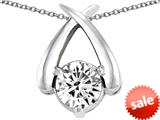 Original Star K™ XO Hug and Kiss Pendant with Round 7mm Genuine White Topaz style: 309250