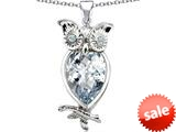 Original Star K™ Good Luck Owl Pendant with Pear Shape Simulated Diamond style: 309274