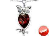 Original Star K™ Good Luck Owl Pendant with Pear Shape Simulated Garnet style: 309277