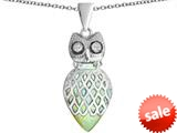 Original Star K™ Good Luck Owl Pendant with Pear Shape Created Opal style: 309332