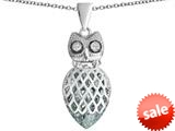 Original Star K™ Good Luck Owl Pendant with Pear Shape Simulated Diamond style: 309342