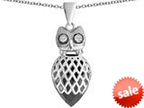 Original Star K™ Good Luck Owl Pendant with Pear Shape Simulated Black Onyx style: 309346