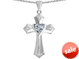 Original Star K™ Heart Cross Love Pendant with Heart Shape Simulated Diamond style: 309415