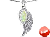 Original Star K™ Angel Wing Pendant with Marquise Shape Created Opal style: 309456