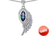Original Star K™ Angel Wing Pendant with Marquise Shape Rainbow Mystic Topaz style: 309458
