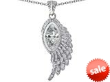 Original Star K™ Angel Wing Pendant with Marquise Shape Simulated White Topaz style: 309464