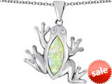 Original Star K™ Lucky Frog Pendant with Marquise Shape Created Opal style: 309474