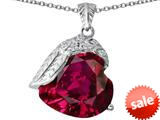 Original Star K™ Angel Wing of Love Pendant with Heart Shape Created Ruby style: 309493