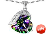 Original Star K™ Angel Wing of Love Pendant with Heart Shape Rainbow Mystic Topaz style: 309494