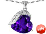 Original Star K™ Angel Wing of Love Pendant with Heart Shape Simulated Amethyst style: 309495