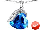 Original Star K™ Angel Wing of Love Pendant with Heart Shape Simulated Blue Topaz style: 309498