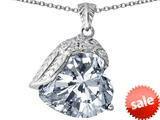 Original Star K™ Angel Wing of Love Pendant with Heart Shape Simulated Diamond style: 309500