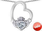 Celtic Love By Kelly ™ Floating Heart Irish Claddagh Pendant with Heart Shape Simulated Diamond style: 309542