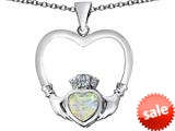 Celtic Love By Kelly ™ Celtic Claddagh Heart Pendant with Heart Shape Created Opal style: 309560