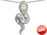 Original Star K™ Good Luck Snake Pendant with Simulated Opal Stones style: 309577