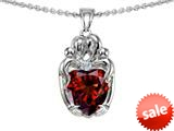Original Star K™ Loving Mother And Twins Family Pendant With Heart Shape Simulated Garnet style: 309615