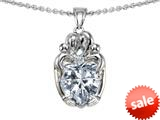 Original Star K™ Loving Mother And Twins Family Pendant With Heart Shape Genuine White Topaz style: 309616