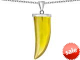 Original Star K™ Large Wolf Fang Tooth Pendant with Simulated Citrine style: 309641