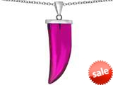 Original Star K™ Large Wolf Fang Tooth Pendant with Simulated Pink Sapphire style: 309646