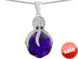 Original Star K™ Large Octopus Pendant with 15mm Faceted Simulated Amethyst Ball style: 309654