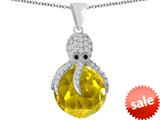 Original Star K™ Large Octopus Pendant with 15mm Faceted Simulated Citrine Ball style: 309657