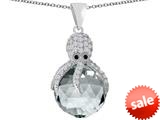 Original Star K™ Large Octopus Pendant with 15mm Faceted Simulated Diamond Ball style: 309658