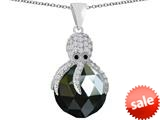 Original Star K™ Large Octopus Pendant with 15mm Faceted Simulated Black Onyx Ball style: 309662