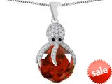 Original Star K™ Large Octopus Pendant with 15mm Faceted Simulated Ruby Ball style: 309664