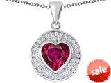Original Star K ™ Circle Of Love Pendant with 10mm Heart Shape Created Ruby style: 309673