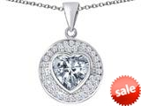Original Star K ™ Circle Of Love Pendant with 10mm Heart Shape Simulated Diamond style: 309678