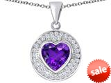 Original Star K ™ Circle Of Love Pendant with 10mm Heart Shape Simulated Amethyst style: 309690