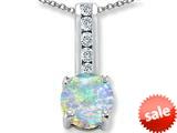Original Star K™ Round 7mm Created Opal Pendant style: 309691