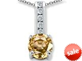 Original Star K™ Round 7mm Simulated Imperial Yellow Topaz Pendant style: 309692