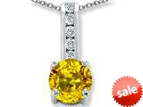 Original Star K™ Round 7mm Simulated Citrine Pendant style: 309694
