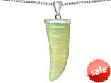 Original Star K™ Large Wolf Fang Tooth Pendant with Created Opal style: 309698