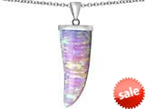 Original Star K™ Large Wolf Fang Tooth Pendant with Created Pink Opal style: 309700